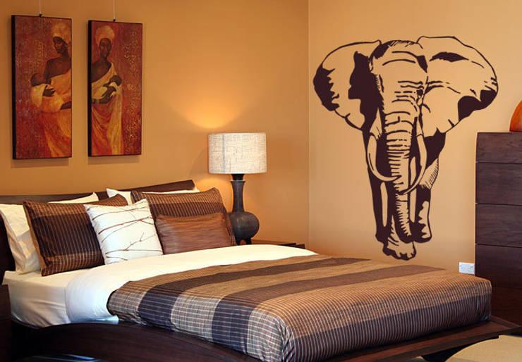 Schlafzimmer ideen - Wandtattoos afrika style ...