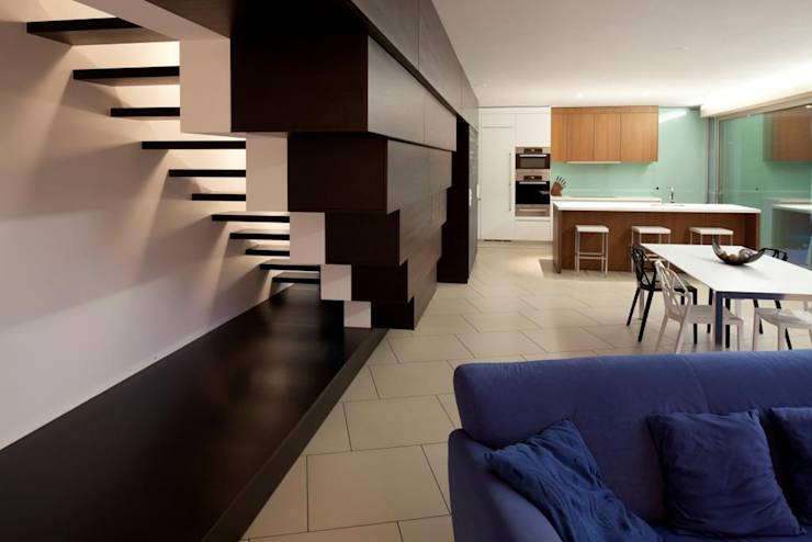 modern Living room by Studio d'arch. Gianluca Martinelli