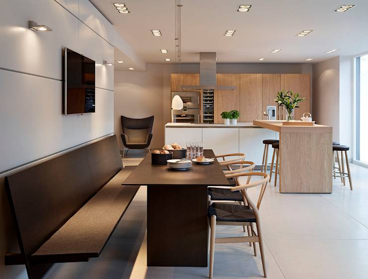 bulthaup b3 kitchen in 39 rough sawn oak 39 by hobsons choice homify. Black Bedroom Furniture Sets. Home Design Ideas