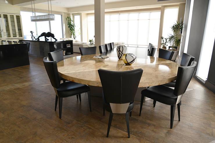 Mesas redondas para comedor 10 dise os diferentes for Marmol veteado sinonimo
