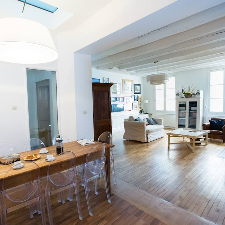 The rustic romance apartment for Reportage renovation maison
