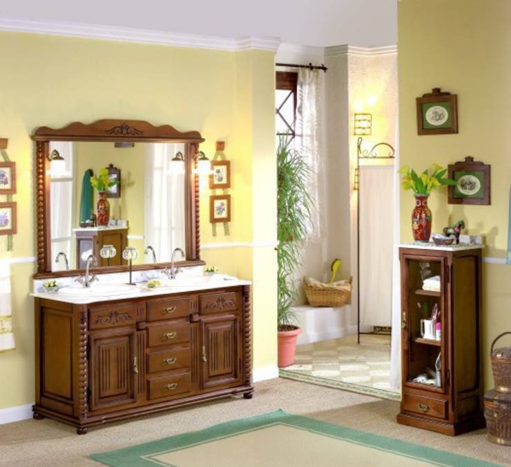 Muebles de pino un universo de madera for Muebles de bano de madera rusticos