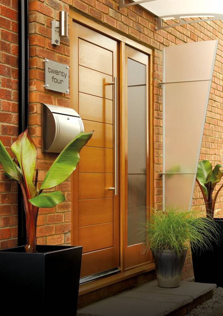 External door sets with sidelights by modern doors ltd for Front door and side panel