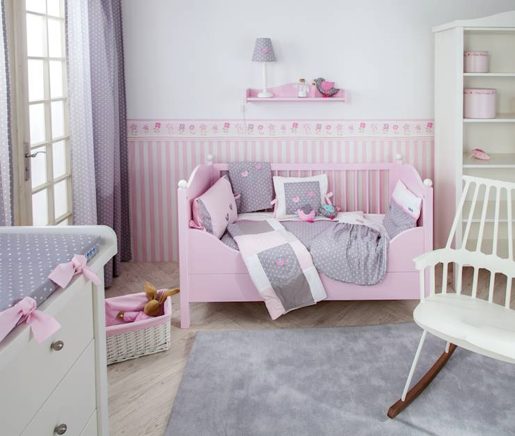 babyzimmer m dchen 10 niedliche einrichtungstipps. Black Bedroom Furniture Sets. Home Design Ideas