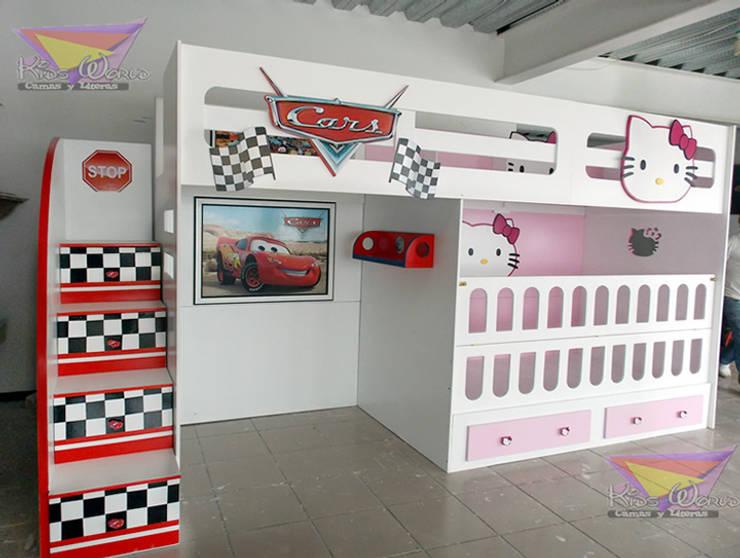 Literas y muebles juveniles de camas y literas infantiles kids world homify - Camas infantiles de cars ...