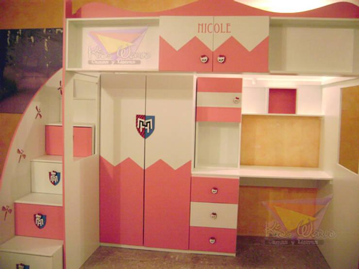 Literas y muebles juveniles de camas y literas infantiles for Roperos para cuartos de ninas