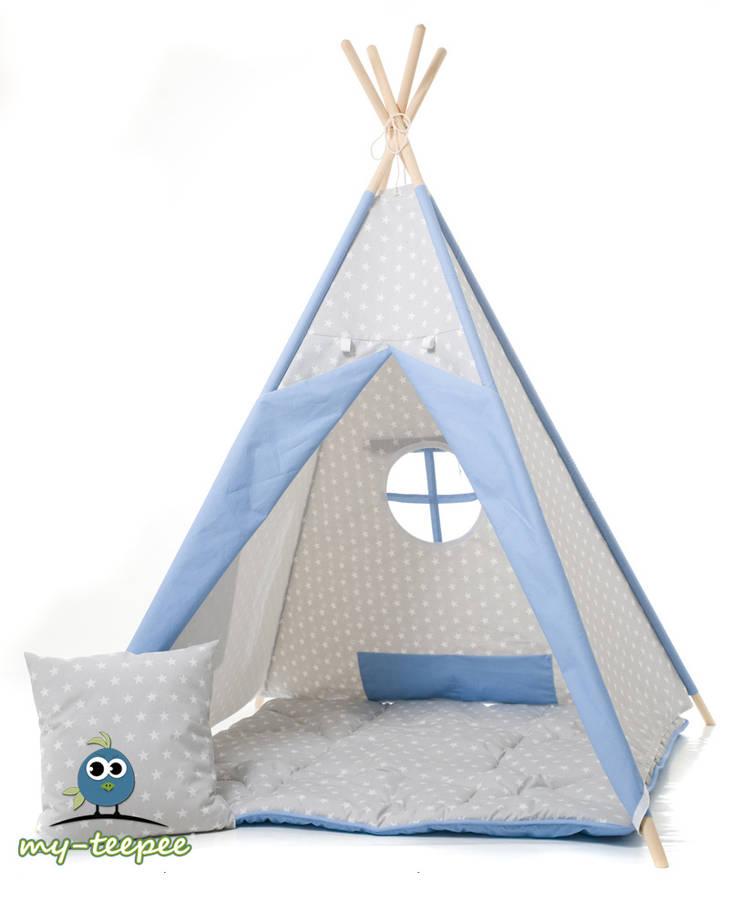 kinder spielzelt grau blau von my teepee homify. Black Bedroom Furniture Sets. Home Design Ideas