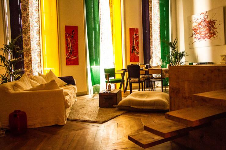 10 magnifiques salons color s - Magnifique maison renovee eclectique coloree sydney ...