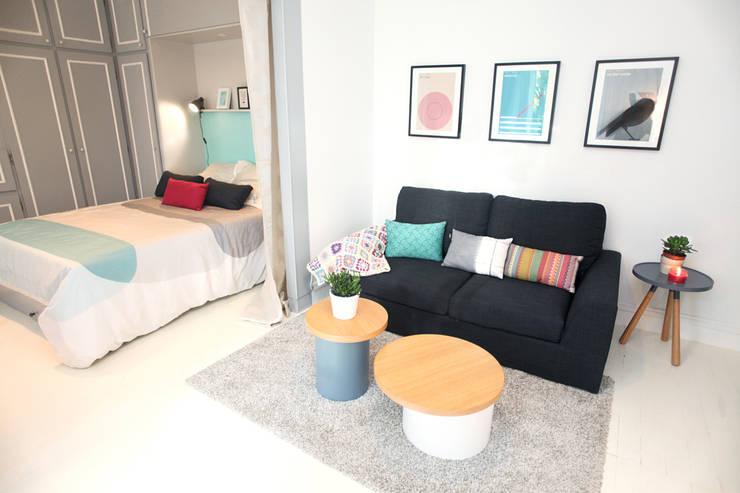 30 magnifiques salons contemporains copier for Idee decoration appartement etudiant