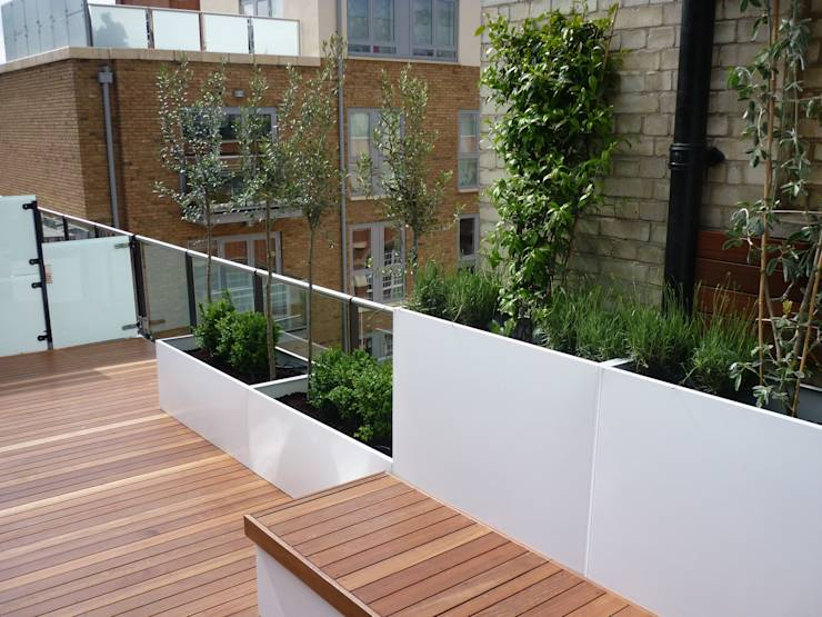 terrazza Terraces Roof idee : Roof terrace 1 di Paul Newman Landscapes homify
