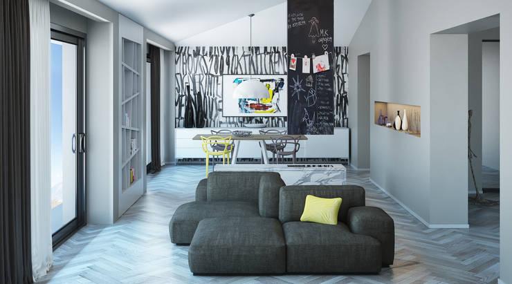 Gli interni delle case moderne for Disegnare stanza online