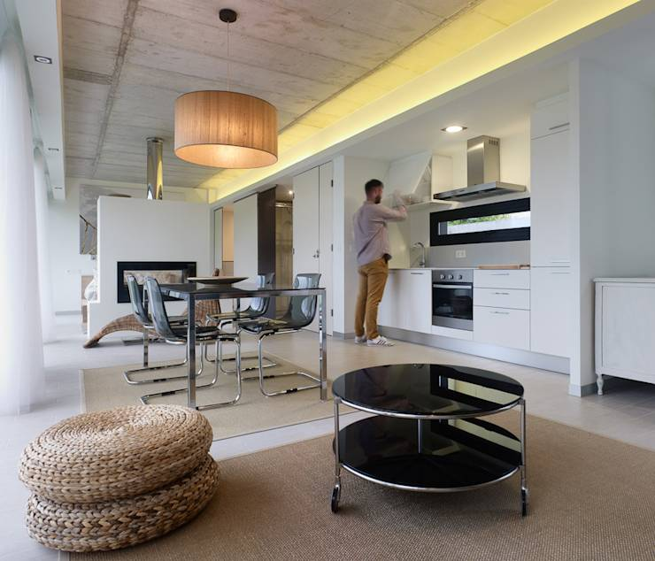translation missing: eg.style.غرفة-السفرة.minimalist غرفة السفرة تنفيذ Nan Arquitectos