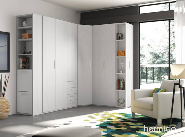 Ideas para crear un vestidor en el dormitorio for Armarios juveniles baratos en barcelona