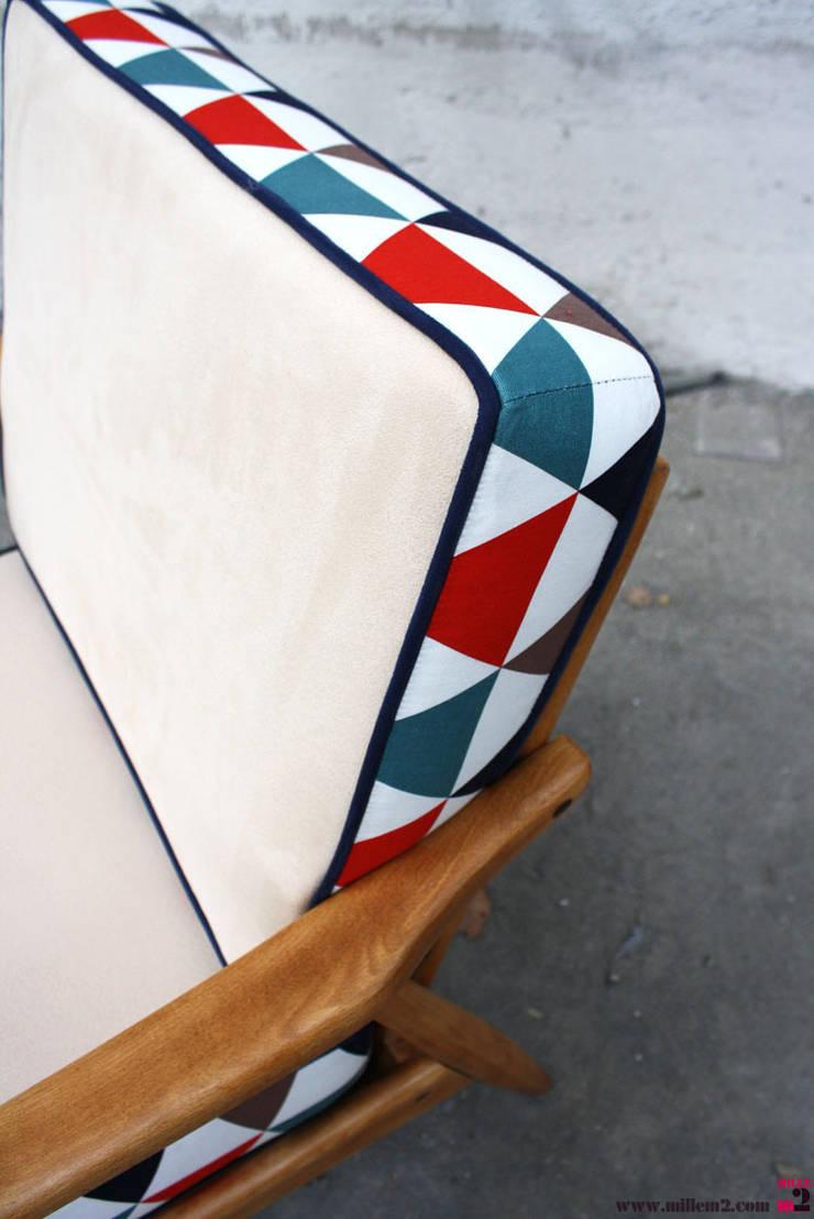 """Fauteuil vintage style scandinave """"coussins À deux faces"""" door ..."""