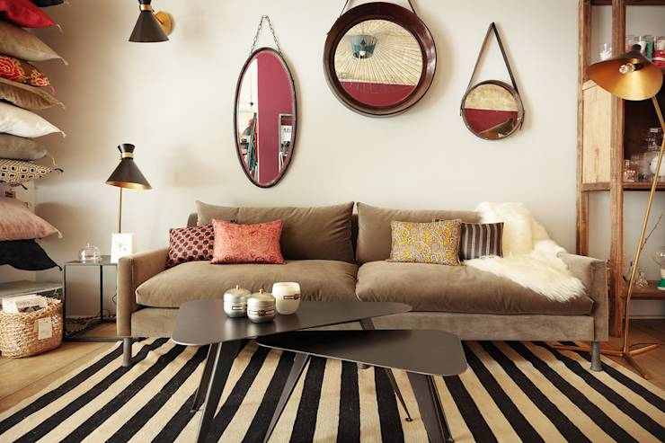30 magnifiques salons contemporains copier for Decoration maison 75020