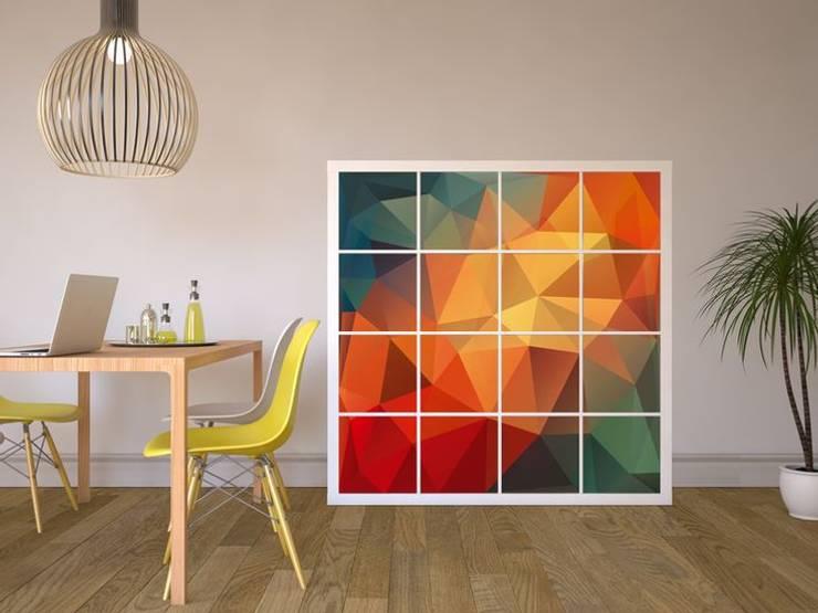 Ikea Schreibtisch Expedit Mit Regal ~ Möbelfolie IKEA Expedit Regal  Polygon moderne Wohnzimmer von