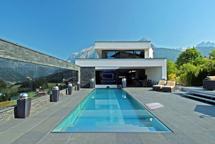De 6 beste idee n voor een zwembad in je tuin - Omgeving zwembad ontwerp ...
