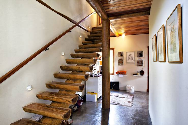 15 ideas de escaleras r sticas para embellecer tu casa - Escaleras de madera rusticas ...