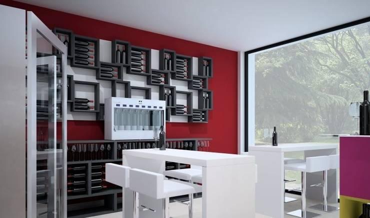 Portabottiglie moderno Esigo 5: Negozi & Locali Commerciali in stile ...
