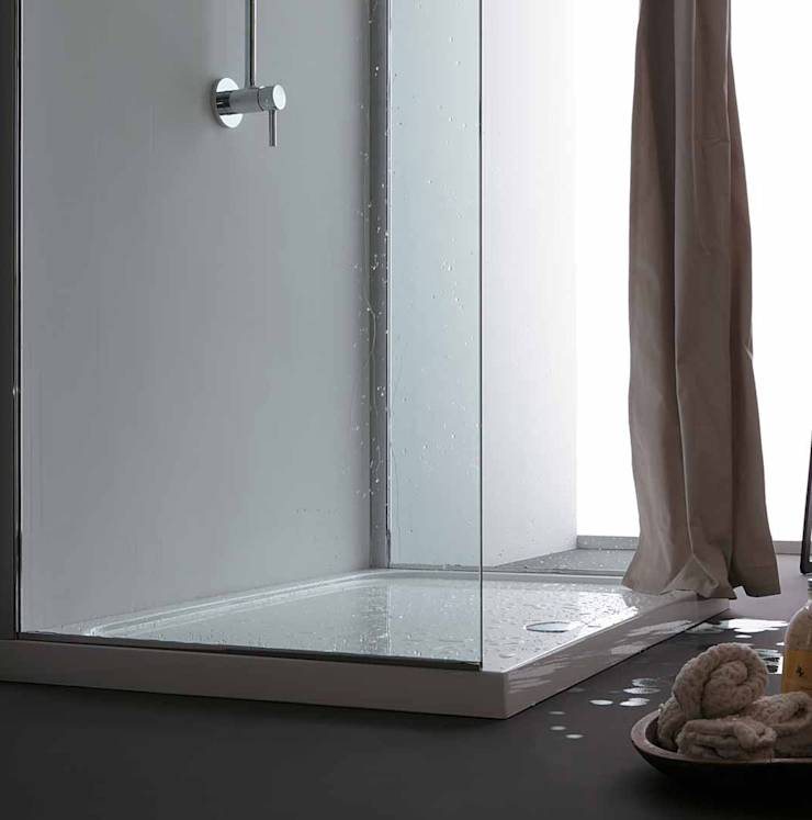 Tenda doccia in tessuto idrorepellente: Bagno in stile in stile ...