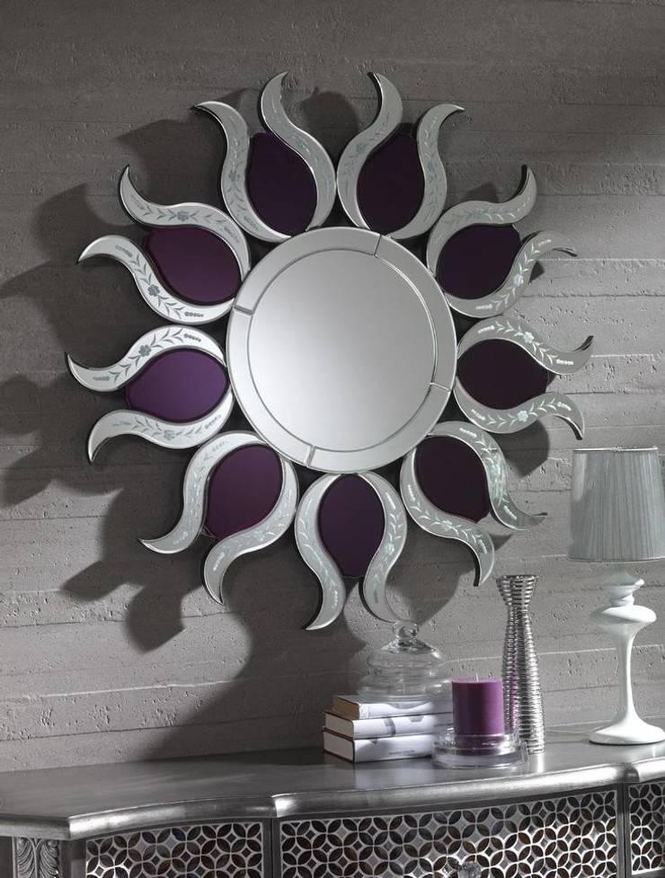 Espejos modernos de cristal de paco escriv muebles homify for Espejo circular