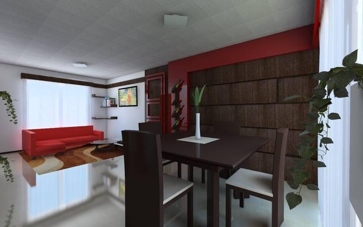 Proyecto de remodelacion y decoracion casa interes social for Colores para casas pequenas interiores
