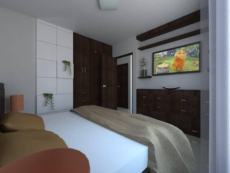 Proyecto de remodelacion y decoracion casa interes social for Diseno de interiores recamaras pequenas