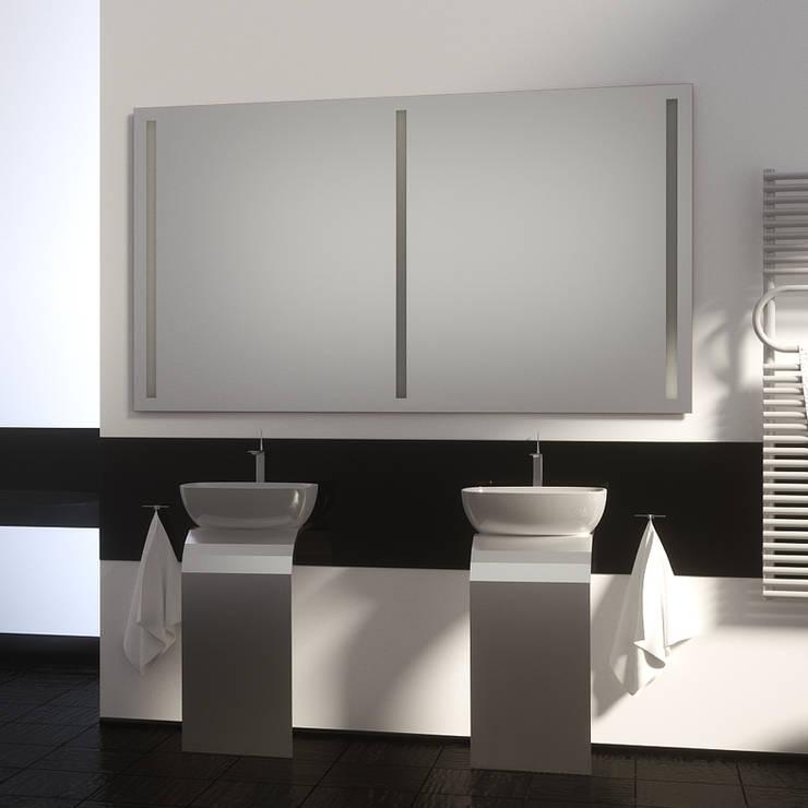 badspiegel mit hinterleuchtung von schreiber licht design gmbh homify. Black Bedroom Furniture Sets. Home Design Ideas