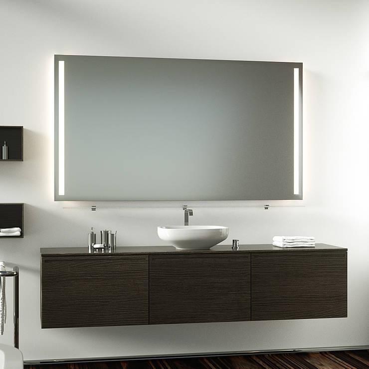 badspiegel mit hinterleuchtung di schreiber licht design gmbh homify. Black Bedroom Furniture Sets. Home Design Ideas