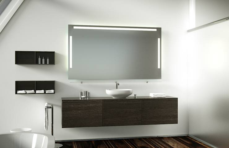 badspiegel mit hinterleuchtung di schreiber licht design gmbh homify. Black Bedroom Furniture Sets. Home Design Ideas