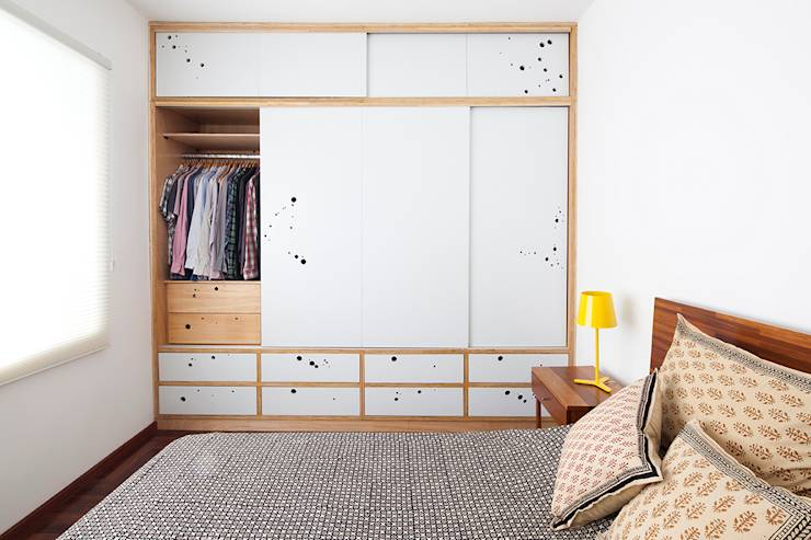 eclectic Bedroom by Zoom Urbanismo Arquitetura e Design
