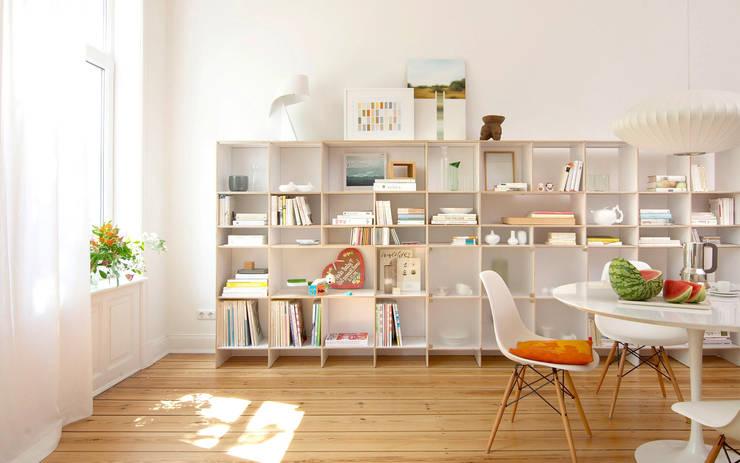 rio regale von regalsystem rio homify. Black Bedroom Furniture Sets. Home Design Ideas