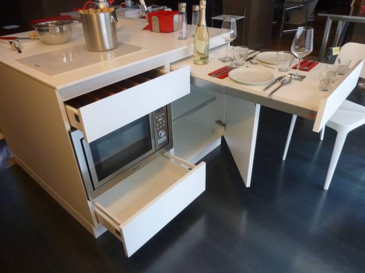 Cucina zona pranzo ricetta fenomenale for Arredamento salvaspazio mobili multifunzionali