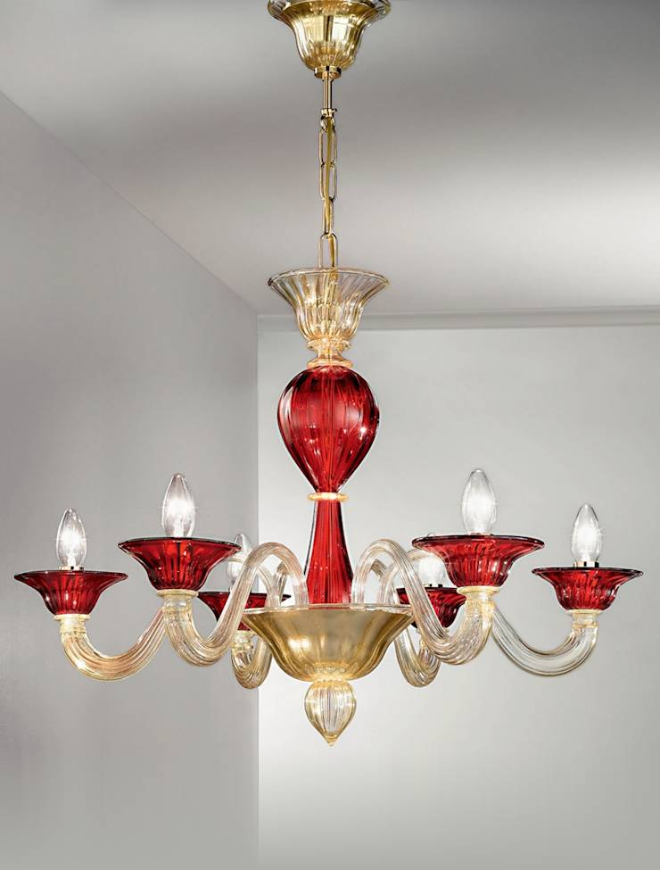 lampadari in vetro di murano di vetrilamp homify