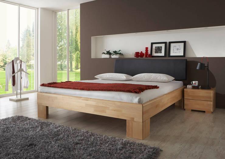 betten von massive naturm bel homify. Black Bedroom Furniture Sets. Home Design Ideas