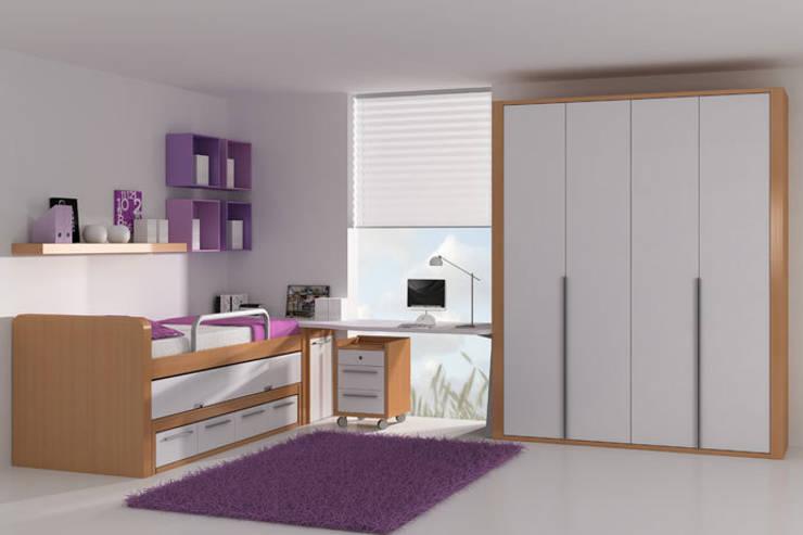 Camas nido con cajones ideas para habitaciones for Camas nidos para ninas