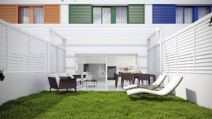 Jardín Jardines de estilo minimalista de Gramil Interiorismo II