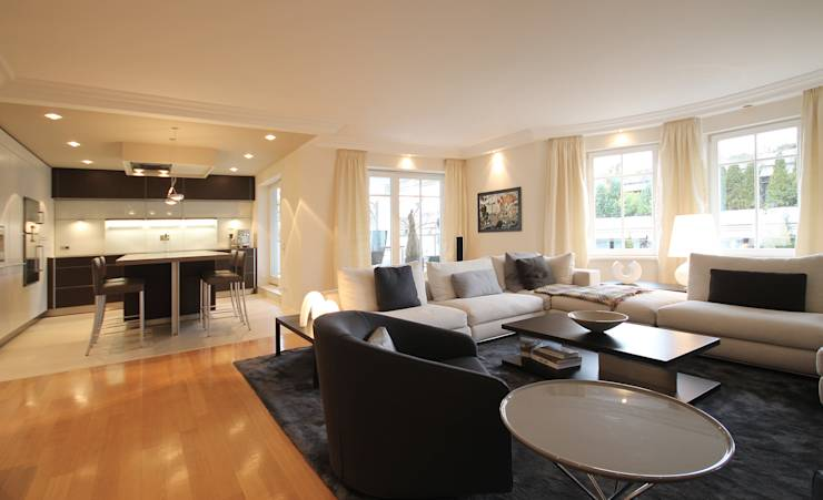 offene wohnk che von eswerderaum homify. Black Bedroom Furniture Sets. Home Design Ideas