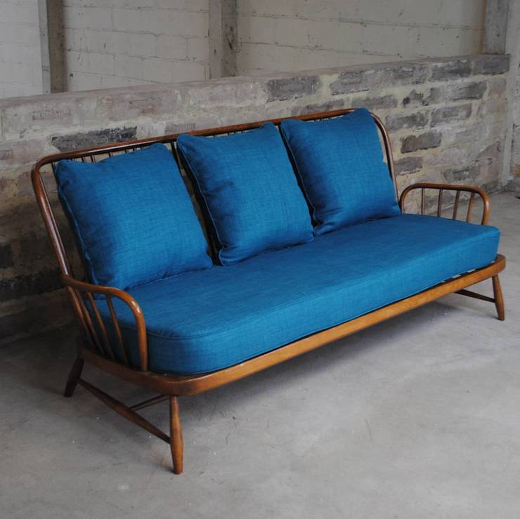 Antique Ercol Sofa: Vintage Ercol Jubilee Sofa In Teal By Sketch Interiors