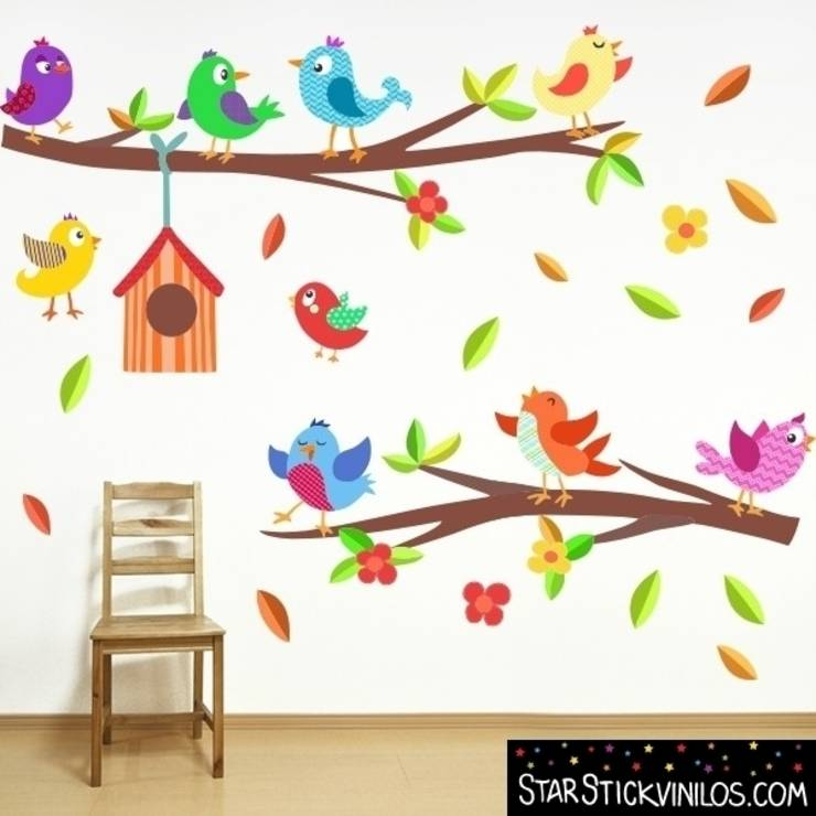 Murales infantiles ideas que dan vida a las paredes for Pegatinas pared arbol infantil
