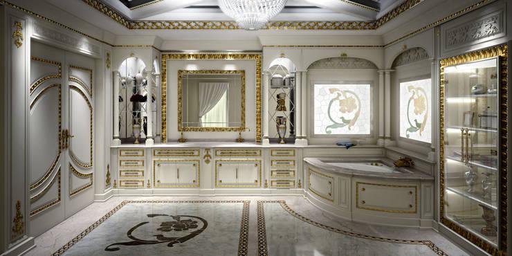 Render Bagno: Bagno in stile in stile classico di Studio Montorzi