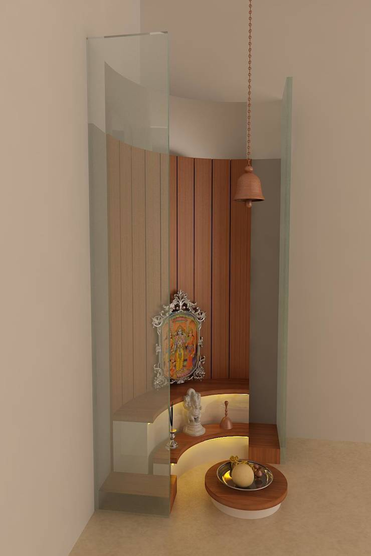 Pooja Room Arrangement: Pooja Room By Drashtikon Designer Consultant