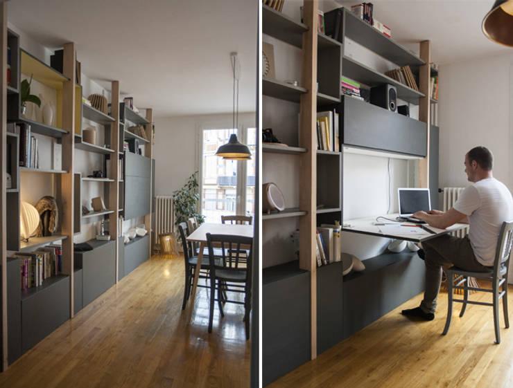 Bijzondere minimalistische boekenkasten design voor thuis - Eigentijdse boekenkasten ...