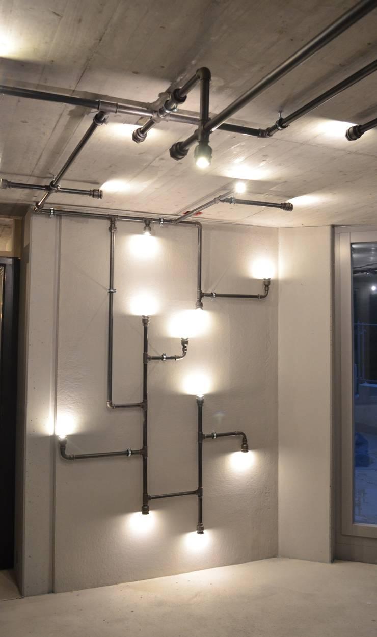 beleuchtungsinstallation burg r timann von industrial ko. Black Bedroom Furniture Sets. Home Design Ideas