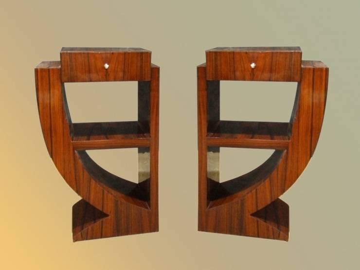 D 39 art et deco l 39 espace du mobilier art deco par d 39 art et for Table de nuit new york