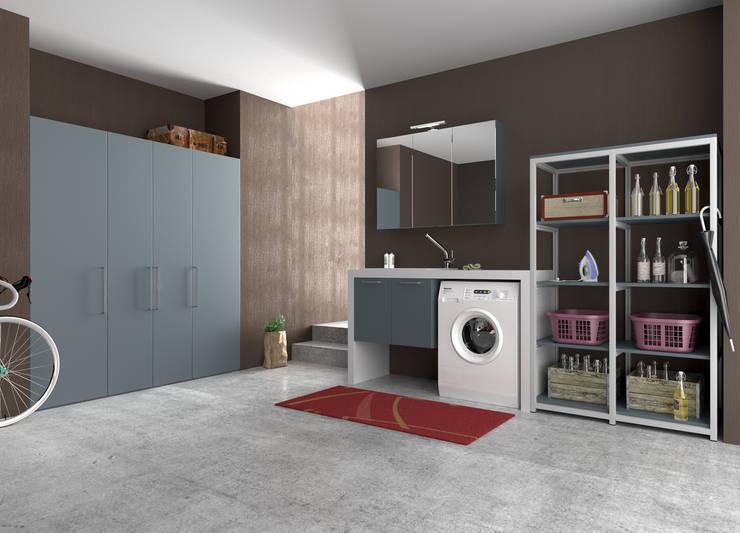 Bagno piccolo ecco dove mettere la lavatrice - Cucine con lavatrice ...