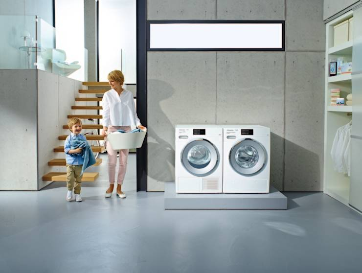 waschmaschine w1 und trockner t1 von miele cie kg homify. Black Bedroom Furniture Sets. Home Design Ideas