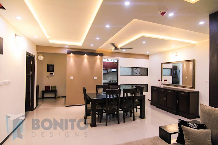 False Ceiling For Living Room And Dining - Studio