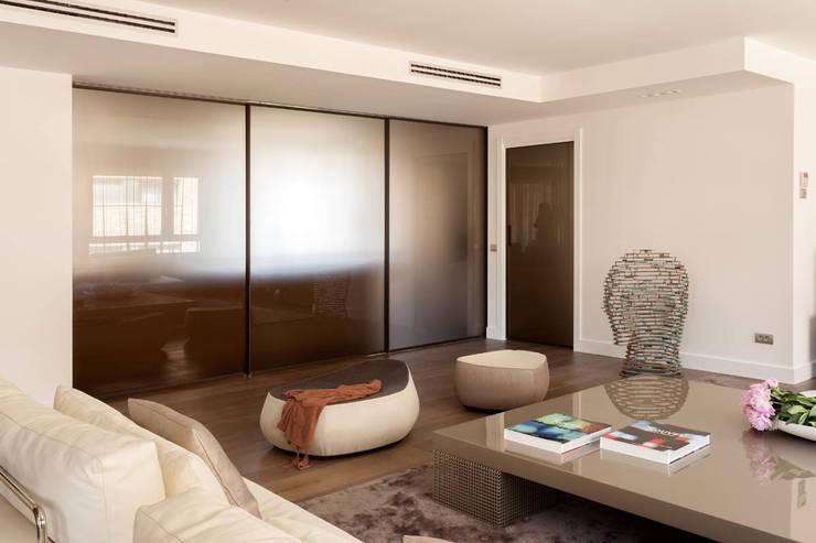 Cerramiento cristal tostado: Salones de estilo moderno de ESTER SANCHEZ LASTRA