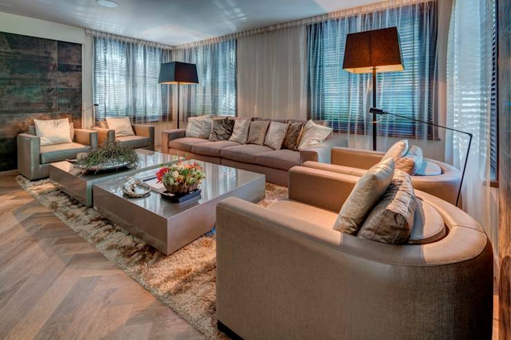 modern Living room by Kabaz